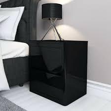 Mirrored Bedside Tables Side Table Vegas Black Glass Mirrored Bedside Table Chest