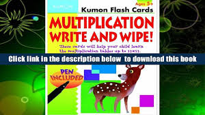 free download multiplication write and wipe flash cards kumon