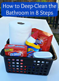 how to deep clean how to deep clean the bathroom in 8 steps clever housewife