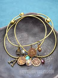 bangles charm bracelet images Embossed brass diy charm bracelets happy hour projects jpg