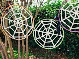 spider webs halloween decorations how to make a kids u0027 halloween spiderweb game diy