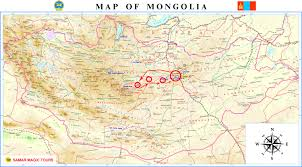 Mongolia Map Mongolia Tours Mongolia Tour Mongolia Samar Magic Tours