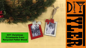 pallet wood christmas ornament picture frames 017 youtube