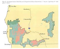 Fire Map Oregon by Rogue River Siskiyou National Forest Maps U0026 Publications