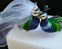 peacock wedding cake topper peacock cake topper etsy