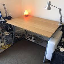 Ikea Desk Adjustable Height by Adjustable Height Office Desk Ikea Galant 80cm X 120cm In