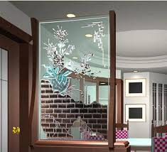 glass partition walls for home decorative popular utility screen printing glass partition wall