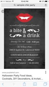 bloody vampire handkerchief invitation halloween party free
