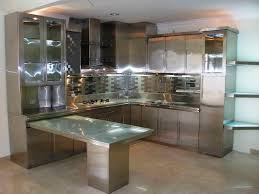 Painting Metal Kitchen Cabinets The Futuristic Inspiration Of Metal Kitchennets Scenic Retro Style