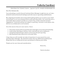 cover letter exles leading professional assistant manager cover letter exles