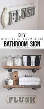 diy bathroom decor ideas farmhouse bathroom sign cool do it yourself bath ideas