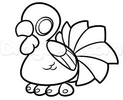 how to draw a kawaii turkey step by step thanksgiving seasonal