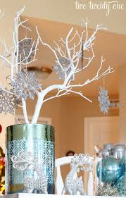 snowflake table top decorations blue and silver christmas table decoration ideas mariannemitchell me