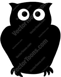 black owl cartoon clipart vector toons
