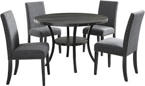 Black Dining Room Table And Chairs Roundhill Furniture Biony Espresso 5 Piece Dining Set U0026 Reviews