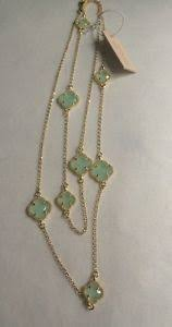 dyadema earrings fiore italy gold 6 petit clover aqua chalecdony