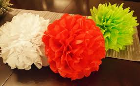 how to make tissue paper flower ornaments for your tree