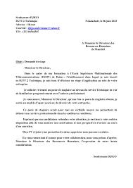 lettre de demande de fourniture de bureau lettre demande de stage recherche langues