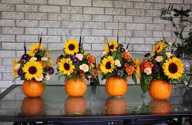 Flower Arrangement Pumpkin Flower Arrangement Thanksgiving Centrepiece Life At