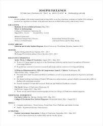 college student resume examples with no experience template word