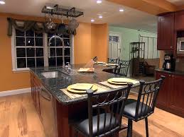 kitchen island with stools breathingdeeply