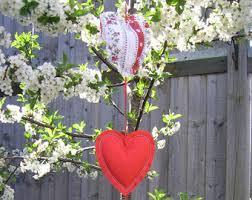 Fabric Heart Decorations Fabric Hearts Etsy