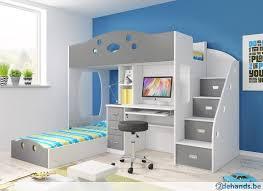 bureau of met stapelbed coca bed met bureau met matrassen beddentoko nl te koop