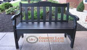 Country Outdoor Furniture by Poly Outdoor Bench Wtih Engraving Handcrafted Poly Bench Poly