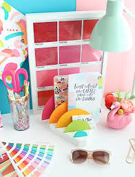 Desk Organization Diy Diy It A Rainbow Desk Organizer A Kailo Chic