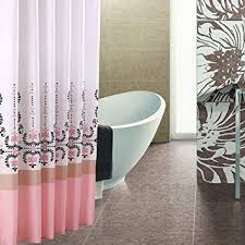 amazon com extra long hookless shower curtain 80 inch by 72