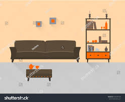 home interior interior design living room stock vector 241690726