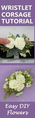 wrist corsage supplies how to make a wrist corsage free diy wedding flower tutorials