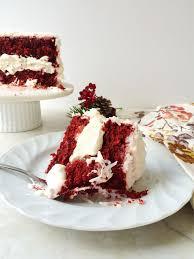 red velvet cake snow globe cake