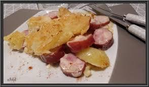 cuisiner des saucisses fum馥s gratin de pommes de terre à la saucisse fumée oh la gourmande
