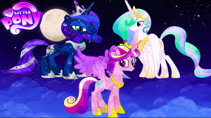 my little pony transform princess luna celestia cadence into