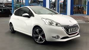 car peugeot 208 used peugeot 208 gti white cars for sale motors co uk