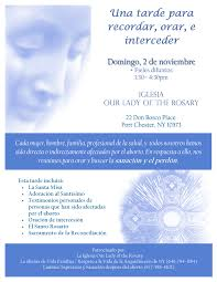 spanish afternoon of prayerful remembrance for abortion
