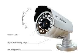 amazon com laview 4 camera security system 8 channel compact