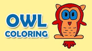 learn colors with owl cartoon owl drawing owl coloring for kids