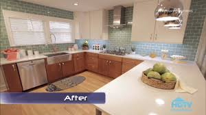 Green Kitchen Tile Backsplash Property Brothers