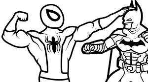 spiderman vs batman coloring pages for kids coloring book kids fun