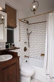 black and white bathroom design in small apartment with stylish