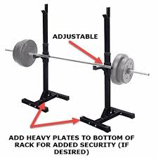 amazon com muorka pair of adjustable barbell stands racks bench
