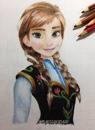 color pencil drawings princess anna frozen marccoronado