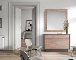muebles para recibidor recibidor moderno donde el espejo tiene un marco de madera