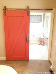 coral bathroom paintbarn door to bathroom in master bedroom id