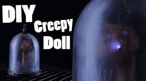 diy creepy doll lamp halloween prop tutorial youtube