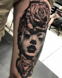 face and roses full sleeve tattoo u2013 tattoos center