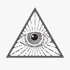 all seeing eye symbol stock vector illustration of drawing 56267814