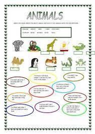 2052 free esl animals worksheets